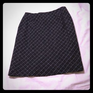 Ann Taylor 2P black wool suit skirt